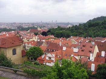 Прага. Градчаны. Вид на город  с королевского холма