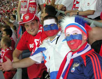 Варшава. Польша - Россия. На стадионе