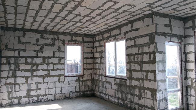 Потолок из пеноблоков - это Сочи!